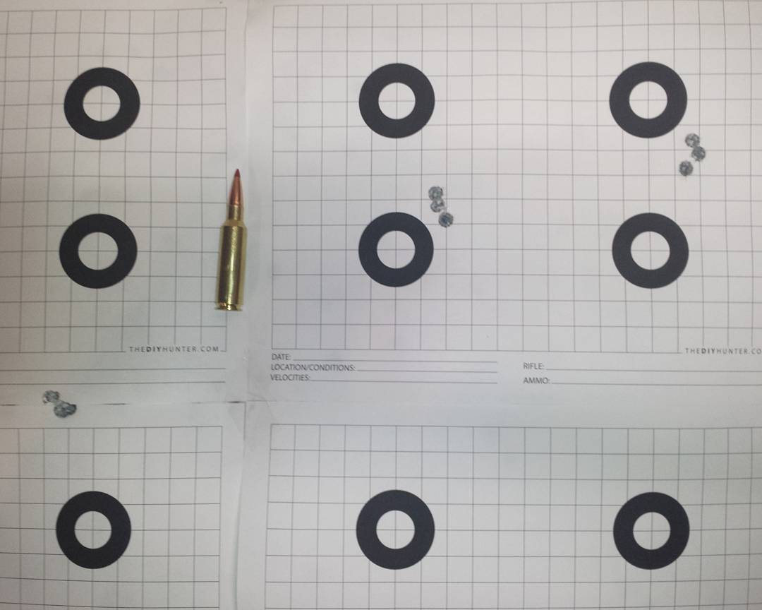 300 WSM 200 Gr. ELD-X 3 Shot Groups.