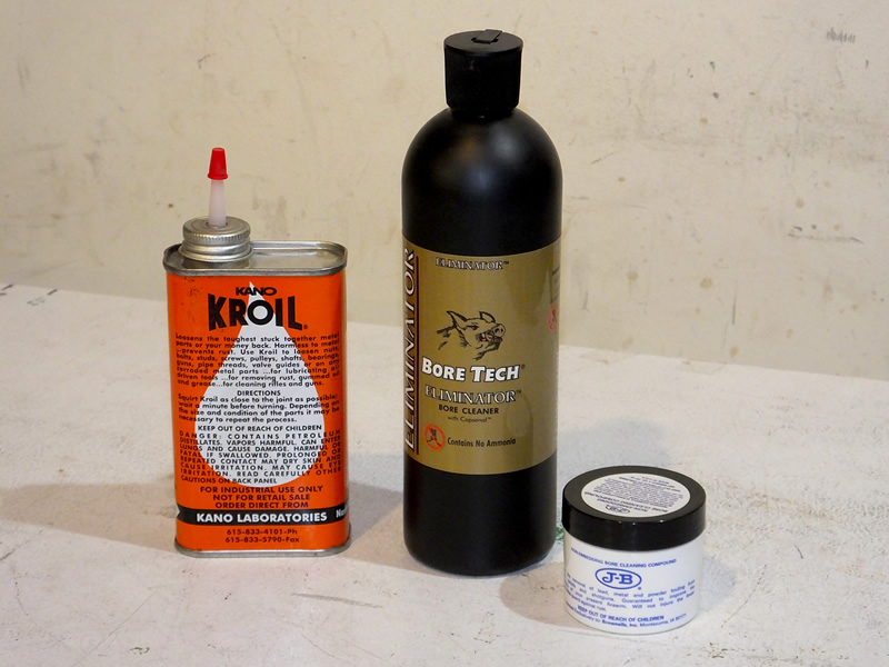 Rifle bore cleaning products
