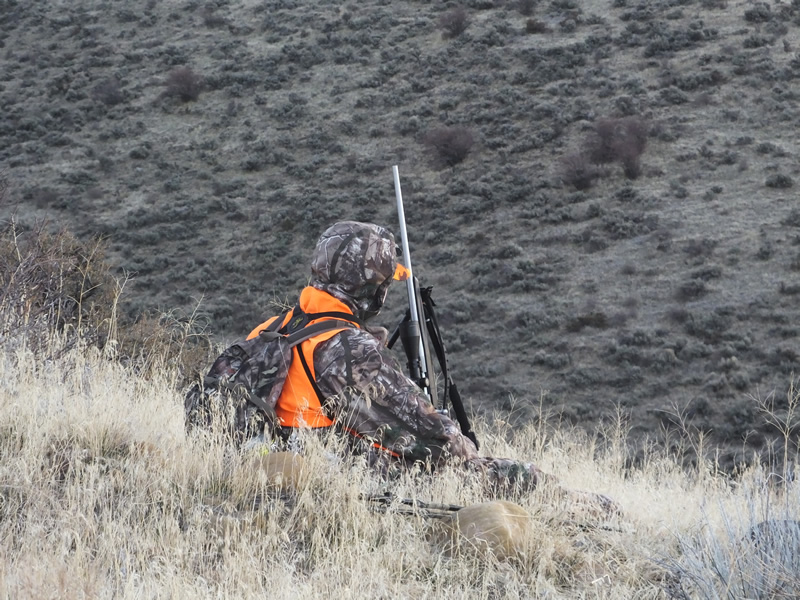 Landen hunting with 270 WSM X-Bolt