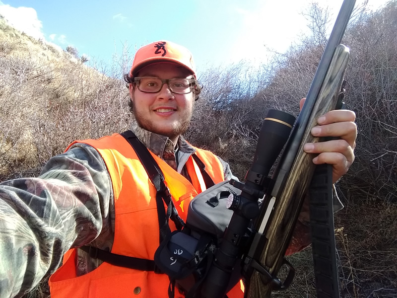 Dallen taking a selfie with his X-Bolt 300 WSM.